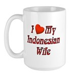 I Love My Indo Wife Large Mug