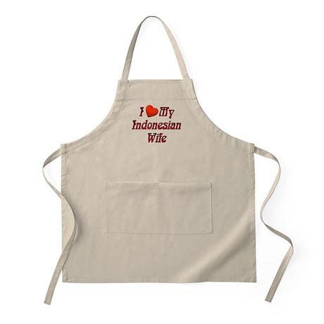 I Love My Indo Wife BBQ Apron
