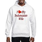 I Love My Indo Wife Hooded Sweatshirt