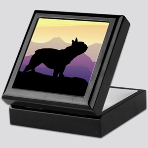 Frenchie Purple Mt. Keepsake Box
