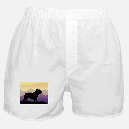 Frenchie Purple Mt. Boxer Shorts