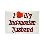 I Love My Indo Husband Rectangle Magnet (10 pack)