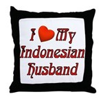 I Love My Indo Husband Throw Pillow