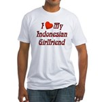 I Love My Indo Girlfriend Fitted T-Shirt