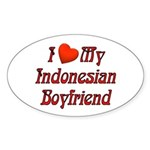 I Love My Indo Boyfriend Oval Sticker