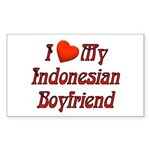 I Love My Indo Boyfriend Rectangle Sticker