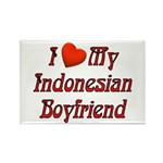 I Love My Indo Boyfriend Rectangle Magnet (10 pack