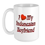 I Love My Indo Boyfriend Large Mug