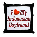 I Love My Indo Boyfriend Throw Pillow