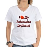 I Love My Indo Boyfriend Women's V-Neck T-Shirt