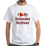 I Love My Indo Boyfriend White T-Shirt