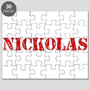 Nickolas Rustic Stencil Design Puzzle