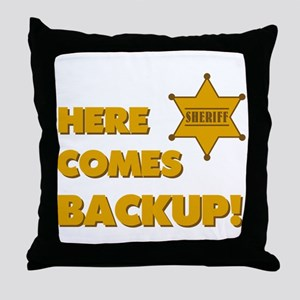 Deputy Backup Throw Pillow