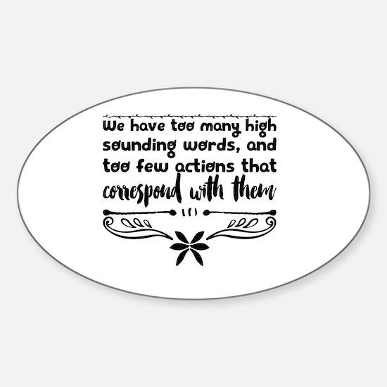 Cute Few words Sticker (Oval)
