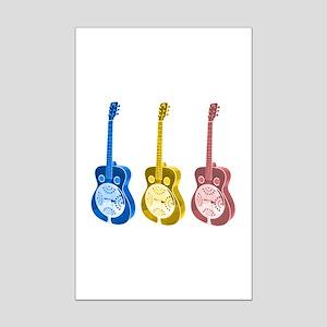 Resonator  - 'The' Blues Guit Mini Poster Print