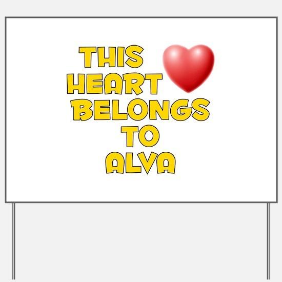 This Heart: Alva (D) Yard Sign