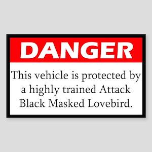 Danger Attack Black Masked Lovebird Sticker