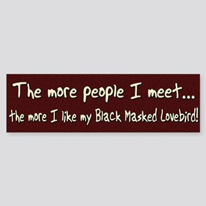More People Black Masked Lovebird Bumper Sticker