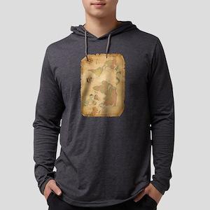 Ancient Mythology World Map Long Sleeve T-Shirt