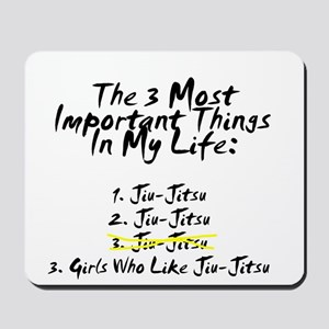 Favorite 3 Things in Life Mousepad