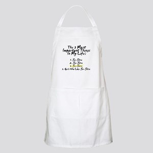 Most Important 3 Things in Life BBQ Apron