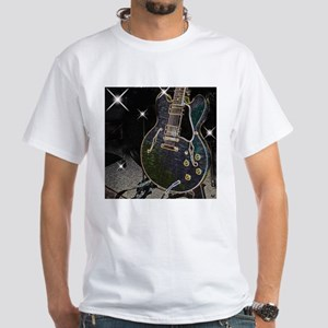 Semi Glow Guitar White T-Shirt