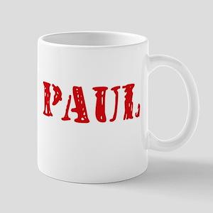 Paul Rustic Stencil Design Mugs