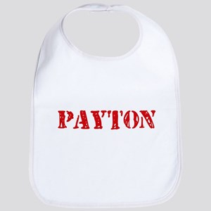 Payton Rustic Stencil Design Baby Bib
