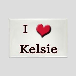 I Love (Heart) Kelsie Rectangle Magnet