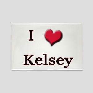 I Love (Heart) Kelsey Rectangle Magnet