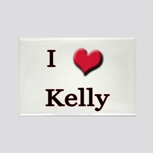 I Love (Heart) Kelly Rectangle Magnet