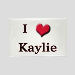 I Love (Heart) Kaylie Rectangle Magnet