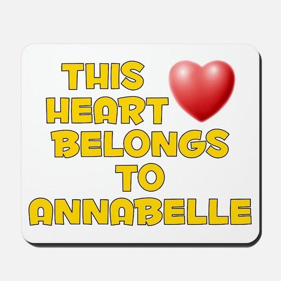 This Heart: Annabelle (D) Mousepad