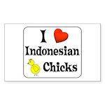I Love Indonesian Chicks Rectangle Sticker