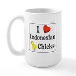 I Love Indonesian Chicks Large Mug