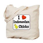 I Love Indonesian Chicks Tote Bag