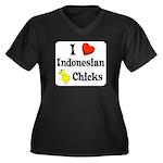 I Love Indonesian Chicks Women's Plus Size V-Neck