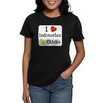 I Love Indonesian Chicks Women's Dark T-Shirt