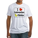 I Love Indonesian Chicks Fitted T-Shirt