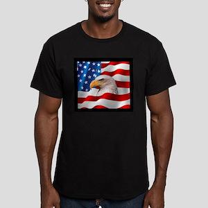 Bald Eagle On American Flag T-Shirt