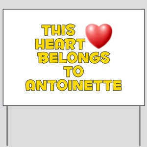 This Heart: Antoinette (D) Yard Sign