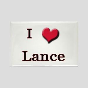 I Love (Heart) Lance Rectangle Magnet