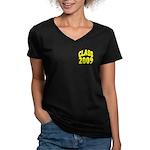 Class of 2009 ver3 Women's V-Neck Dark T-Shirt