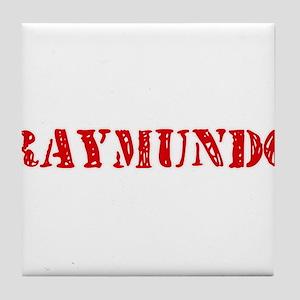 Raymundo Rustic Stencil Design Tile Coaster