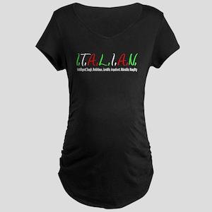 Italian Letters Maternity T-Shirt