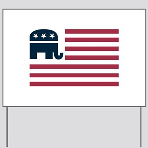 GOP Flag Yard Sign