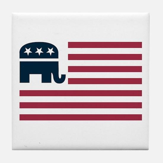 GOP Flag Tile Coaster