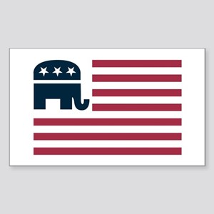 GOP Flag Rectangle Sticker