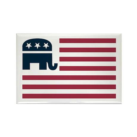 GOP Flag Rectangle Magnet