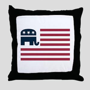 GOP Flag Throw Pillow